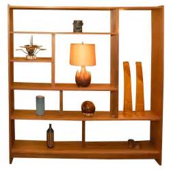 Shelf Room Divider by Solid Teak Danish Bookshelf Room Divider At 1stdibs