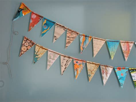 How To Make Paper Bunting - geninne s october 2009