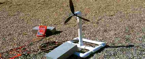 how to build a mini wind turbine generator from