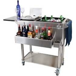Stainless Steel Portable Kitchen Island Glastender Portable Stainless Steel Cocktail Station Cart