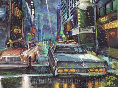 paint nite jersey city in the rotten apple early 80s nyc painting by
