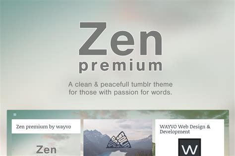 tumblr themes ultrazen zen premium tumblr theme tumblr themes on creative market