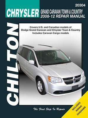 free car manuals to download 2009 dodge caravan user handbook chilton books 20304 repair manual caravan town country 2008 12 ebay