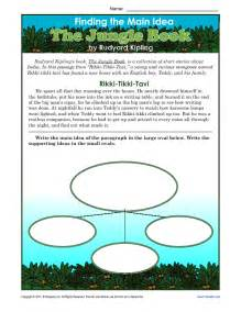 main idea worksheets 3rd grade common core posters