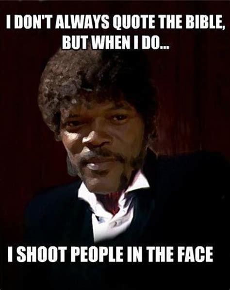 Samuel L Jackson Pulp Fiction Meme - funny samuel jackson quotes quotesgram