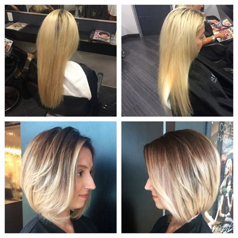 how to modify a bob haircut transformation from long bleached blonde hair to beautiful