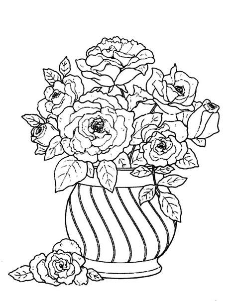 printable coloring pages vase flower vase coloring page printable coloring pages vase