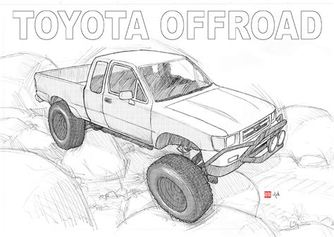 4x4 Sketches by Toyota 4x4 Offroad By Randychen On Deviantart