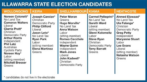 minor party tops wollongong ballot paper illawarra mercury