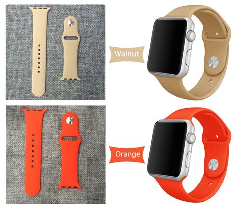 Oem Sports Band Tali Applw 42mm 38mm Orange 25 colors 42mm 38mm silicone sport band with connector adapter for apple band 42mm 38mm