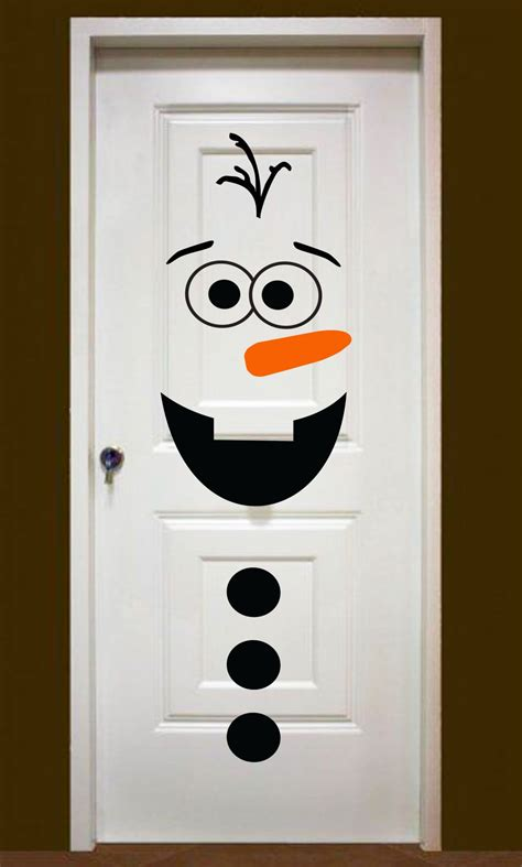 Snowman Door by Groopdealz Snowman Door Decor