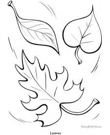 free coloring pages of leaf outlines