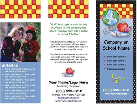 free templates for educational brochures 7 free sle educational brochure templates printable