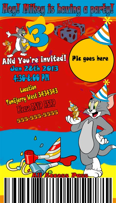 luck card tom and jerry template inspirations tom and jerry invitations best tom and