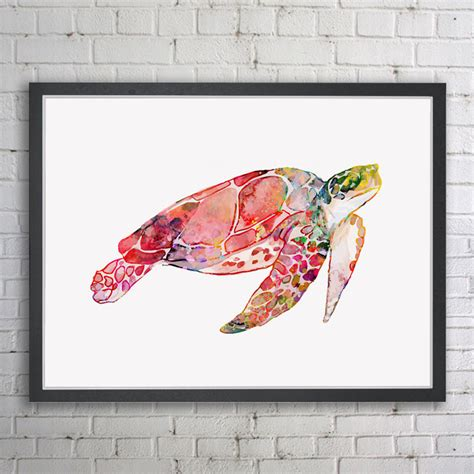 home decor art prints sea turtle watercolor art print home decor marine animals