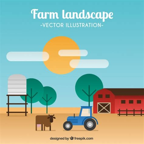 farm layout design software free download farm landscape in flat design vector free download