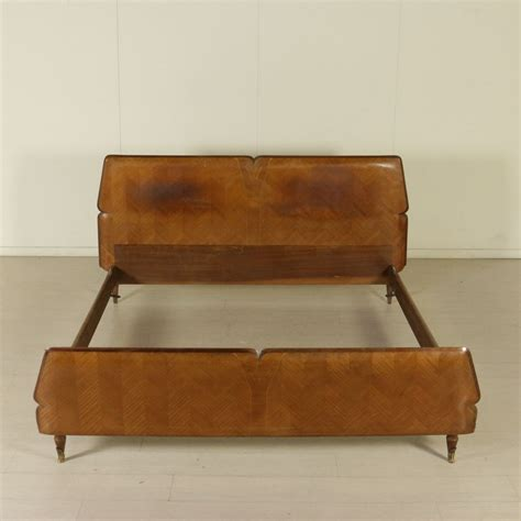 matrimonial bed matrimonial bed mmahogany veneer wood vintage manufactured