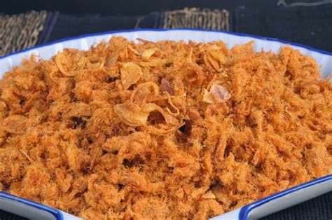 cara membuat roti goreng isi abon ikan resep abon sapi renyah dan gurih