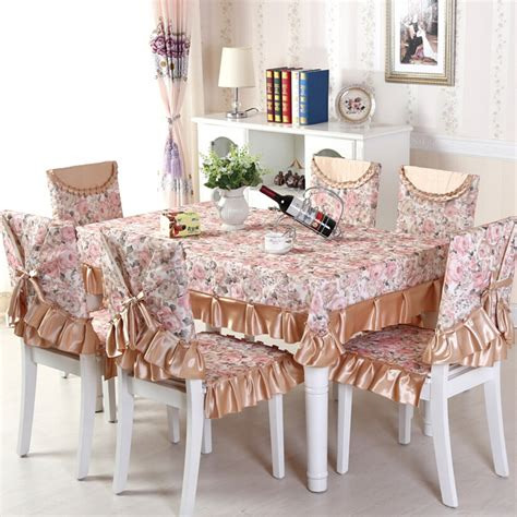 flowers pattern seat covers for dining room chairs floral pattern 13pcs set tablecloth and dining chair