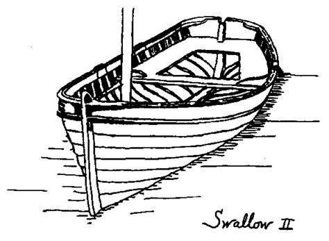dinghy boat drawing the boats of swallows and amazons