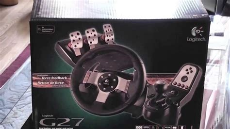 Harga Pc Racing Wheel With Clutch And Shifter by Unboxing Logitech G27 Racing Wheel