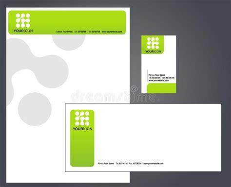 business card letterhead envelope vector letterhead envelope and business card stock vector