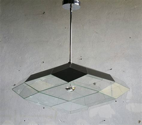 custom glass pendant lights custom faceted glass and mirror hanging pendant l