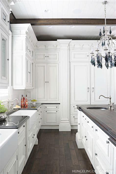 hidden refrigerator transitional kitchen benjamin