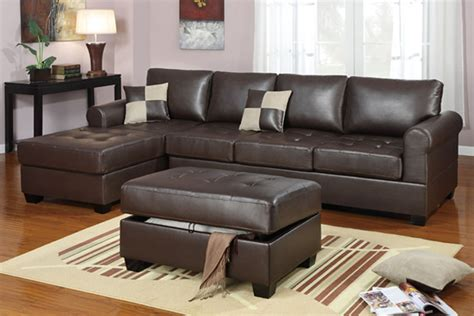 brown sectional couches f7329 dark brown sectional sofa set by poundex
