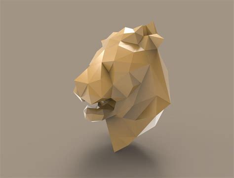 Papercraft Trophy - trophy 3d papercraft model pdf template diy