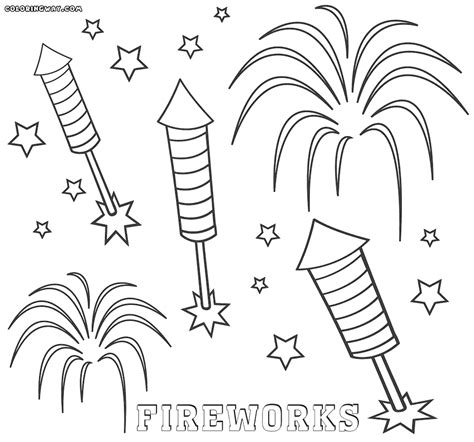 firework colouring kids coloring europe travel guides com