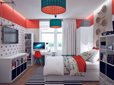 teal and orange bedroom ideas colorful orange and teal kids bedroom interior design ideas