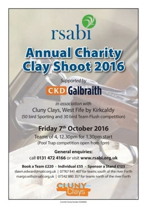 shoot annual 2016 annuals 1910287156 scottish country sports tourism group rsabi annual charity clay shoot cluny clays