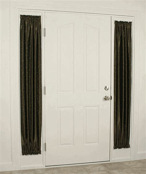 Sidelight Curtain Sidelight Panels In Metallic Opaque