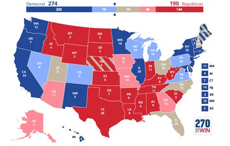 current swing states 2016 presidential election forecast maps