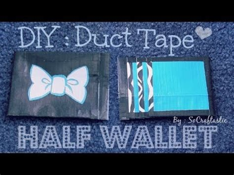 how to make a duct card holder duct half wallet card holder how to