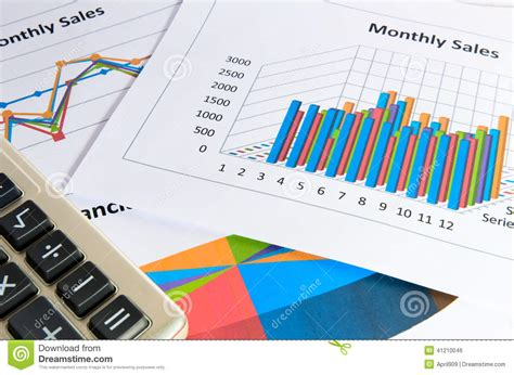 imagenes de calculadoras gr 225 ficos e cartas do relat 243 rio de vendas mensal com