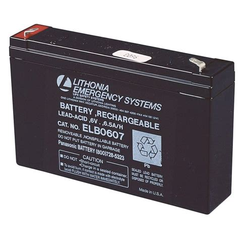Baterai Lu Emergency 6 Volt lithonia lighting elb 0607 6 volt emergency replacement