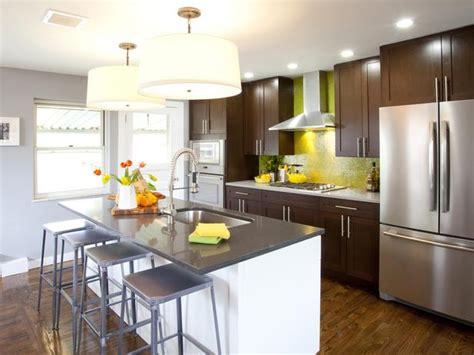 modern kitchen islands hgtv contemporary kitchen with oversized stainless refrigerator