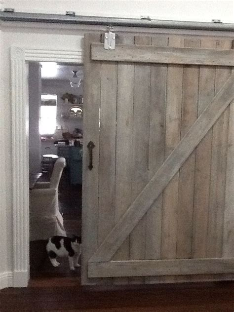 barn door   reclaimed barn wood white washed  minwax pickling stain tractor supply