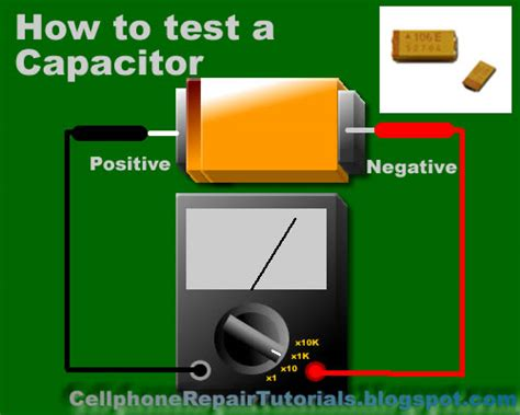 checking capacitor how to check basic electronic components using a multi meter mobile flash tool and more