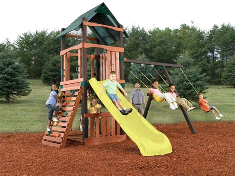 wooden swing frame kit tahoe no cut wooded play set kit wooden swing sets my