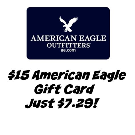 Ae Gift Card - 15 american eagle gift card just 7 29