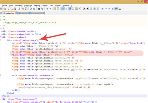 how to change a header for the magento cms or module page magento how to add a custom link to header links