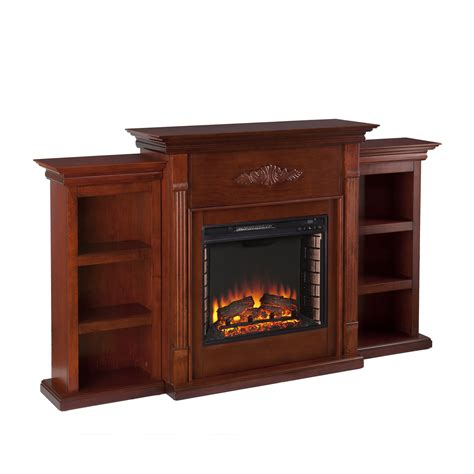 electric fireplace with bookcase tennyson electric fireplace w bookcases classic