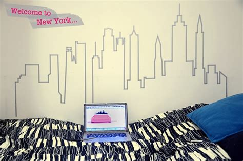 Wall Murals For Teenagers ideas para decorar paredes con washi tape
