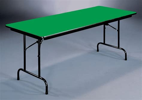 18 X 48 Folding Table by High Pressure Folding Table In Green 18 In X 48 In