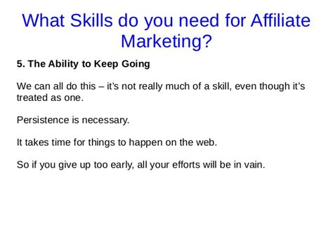 what skills do you need for affiliate marketing