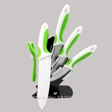 free shipping colorful handle ceramic kitchen knives