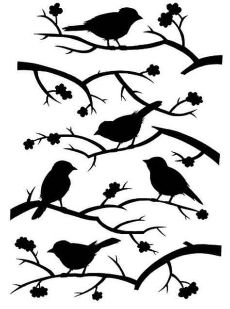 printable wall stencils birds stencil bird scan n cut pinterest blossoms glaze
